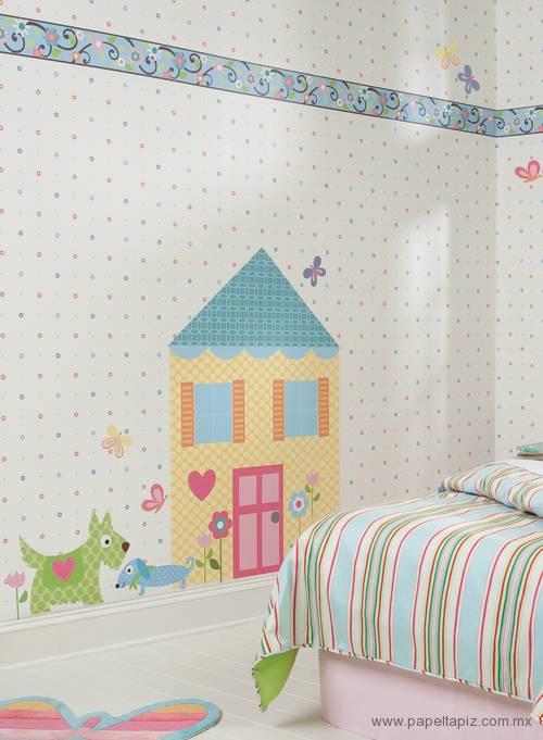 Tapiz modelo Happi by Dena Doll House RMK1438SLM del catálogo Friends Forever