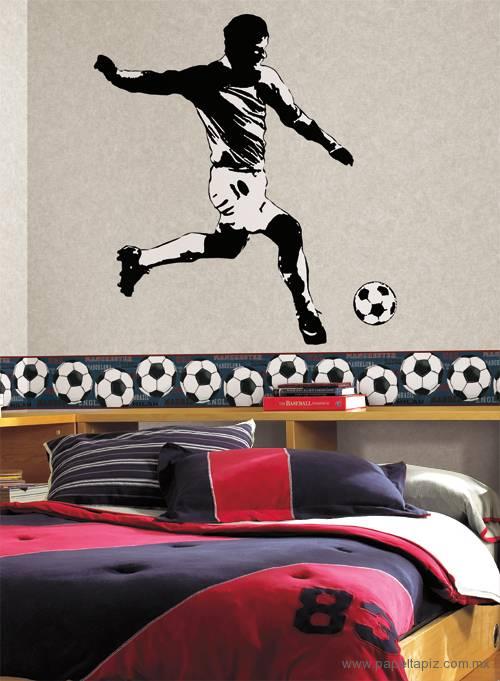 Tapiz modelo He Scores Soccer Border JE3540BD del catálogo Friends Forever