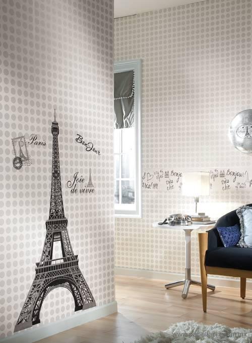 Tapiz modelo Eiffel Tower Wall RMK1576GMPW del catálogo Girl Power II