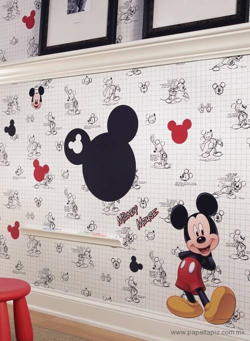 Tapiz modelo Mickey Mouse Sketches DK6083 del catálogo Disney