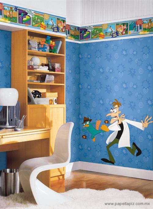 Tapiz modelo Phineas and Ferb Scrolls DK6074 del catálogo Disney